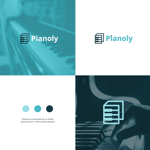 Poetry logo with the title 'Piano Book'
