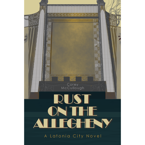 Art Deco book cover with the title 'Art Deco Book Cover'