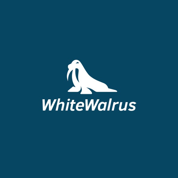 Walrus design with the title 'White Walrus'