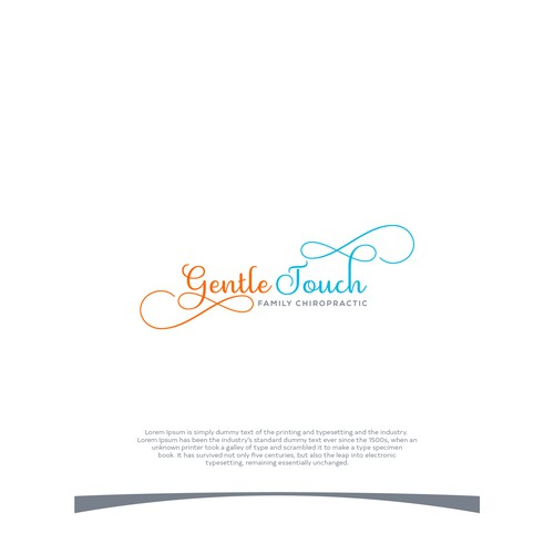 Flowing logo with the title 'Gentle Touch Family Chiropractic'