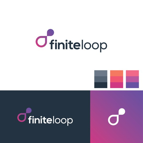 Loop design with the title 'finiteloop logo design'