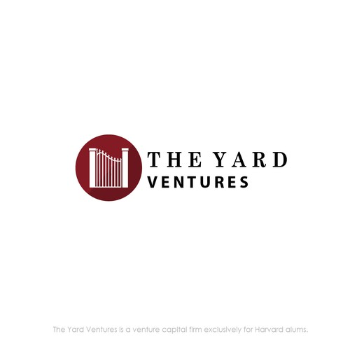 Gate logo with the title 'A simple logo design for THE YARD VENTURES'