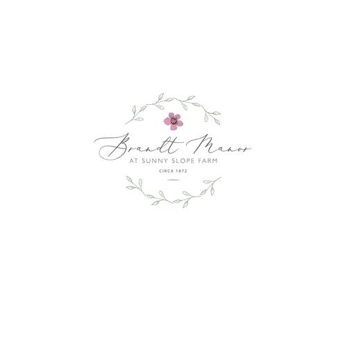 Rural logo with the title 'Wedding Barn Venue Logo'