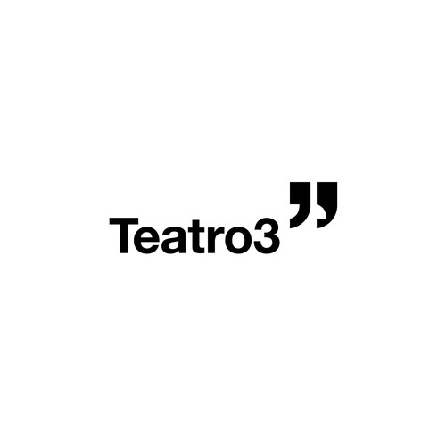 Acting design with the title 'Teatro3 - a modern theatre group'