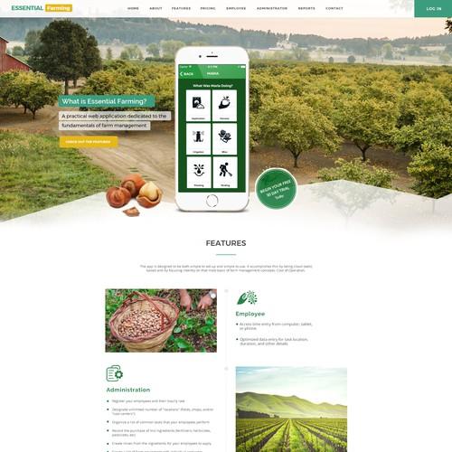 Farm website with the title 'Farmers App Website'