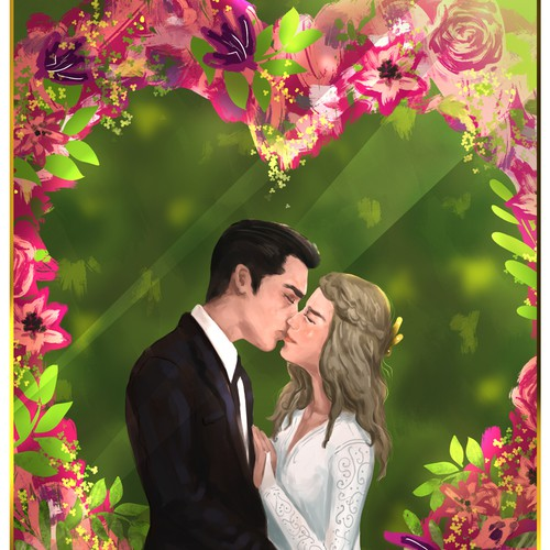 Kiss design with the title 'wedding gift illustration design'