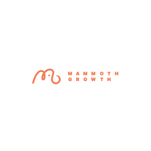 Red and white logo with the title 'Mammoth Growth'