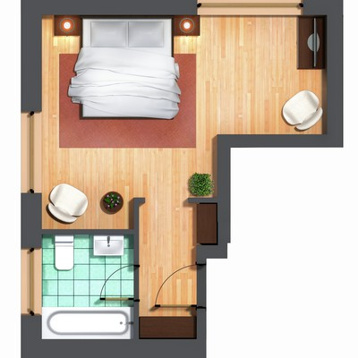 Modern and nice looking room floor plan! Modern wirkende Grundriss Pläne