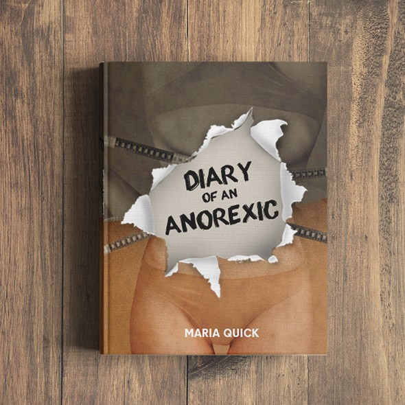 Teen design with the title 'Cover book about anorexia'