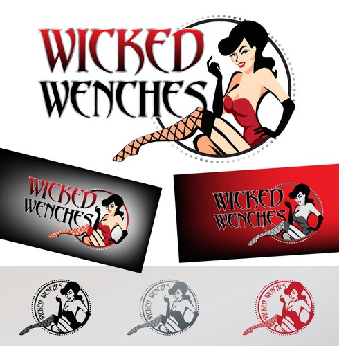 Pin-up girl logo with the title 'Wicked Wenches needs a new logo'