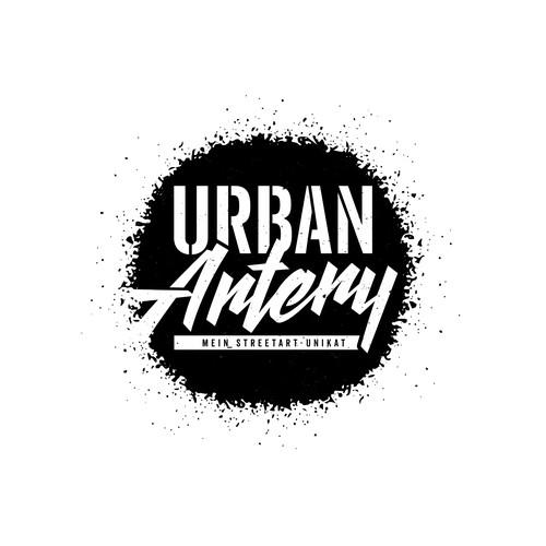 Stencil design with the title 'Logo design for Urban Artery'