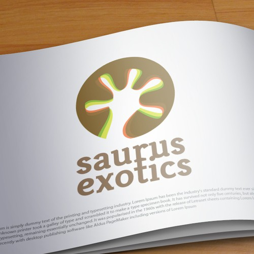 Reptile logo with the title 'Exotic reptile business identity'