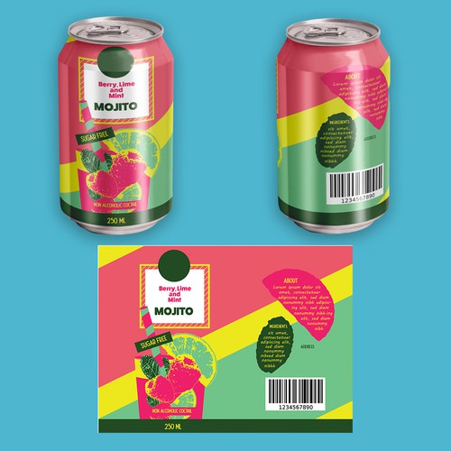 Cocktail packaging with the title 'Cocktail in Can design '
