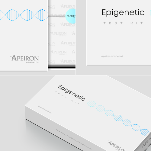 Exclusive packaging with the title 'Epigenetic Test Kit Box'