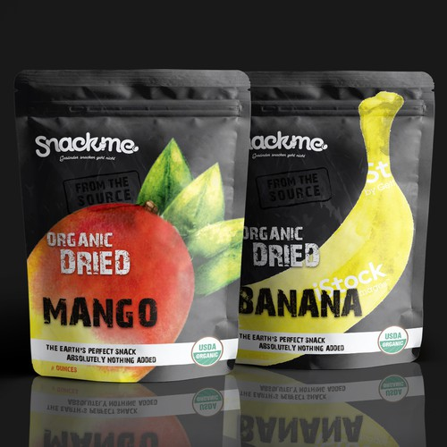 Mango design with the title 'Food Label for a startup'