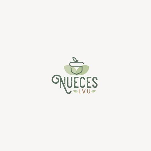 Acorn design with the title 'Nueces logo'