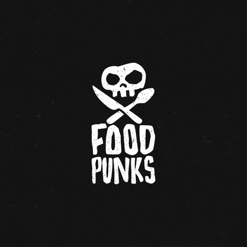 Quirky logo with the title 'Foodpunks Logo'