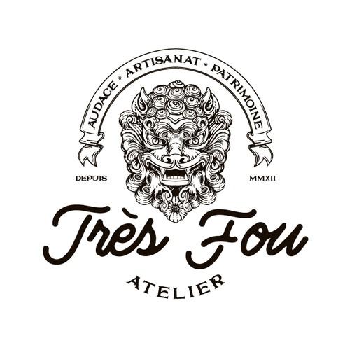 Achievement logo with the title 'Logo for Très Fou Atelier'