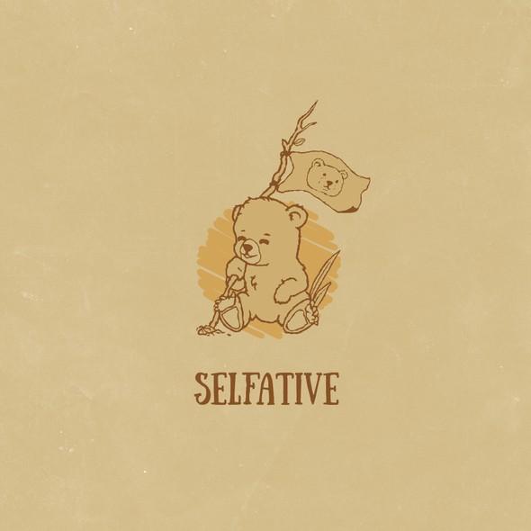 Blogging logo with the title 'Selfative logo design concept'