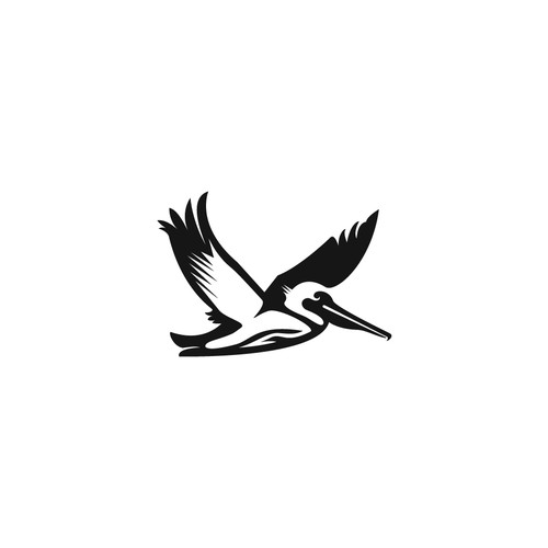 Pelican design with the title 'Create a timeless surfing logo'