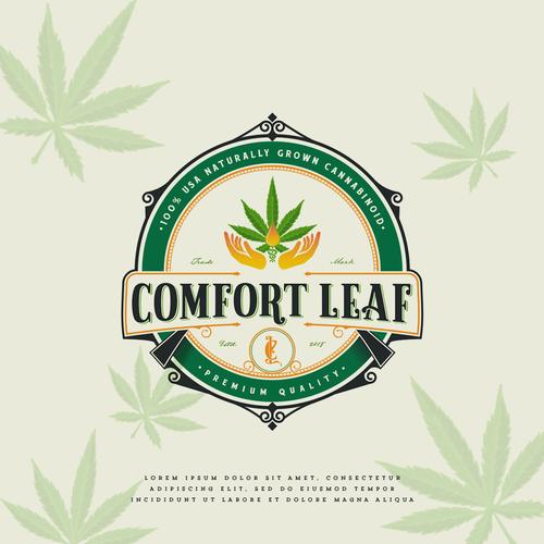 V design with the title 'Comfort Leaf'