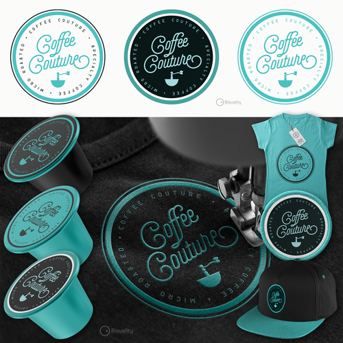 Coffee roaster logo with the title 'The Coffee Couture'