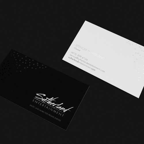 Letterpress design with the title 'Business cards'
