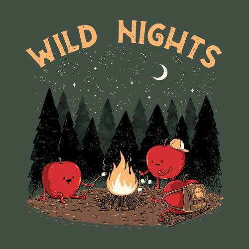 Food t-shirt with the title 'Wild Nights'