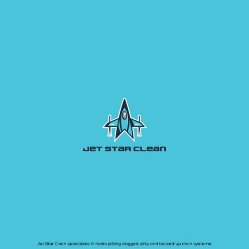 Jet design with the title 'Logo for Jet Star Clean'
