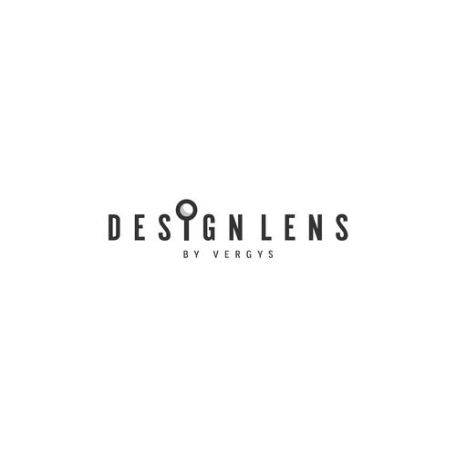 Lens logo with the title 'Design Lens Logo'