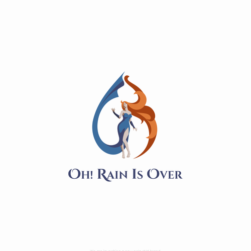 Masculine logo with the title 'Rain is Over'