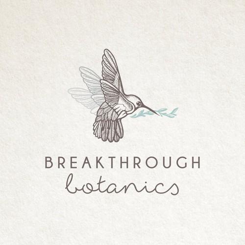 Leaf logo with the title 'Breakthrough Botanics'