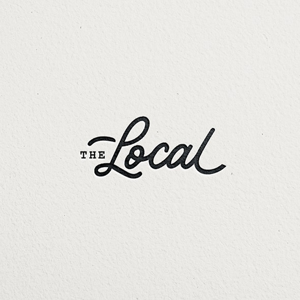 Sleek logo with the title 'Minimal logo for a restaurant'