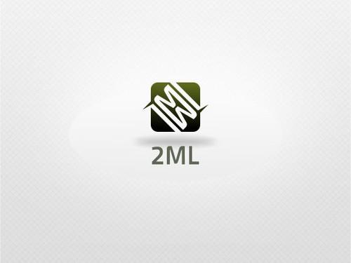 Two design with the title 'Nieuw logo gezocht voor 2ML'