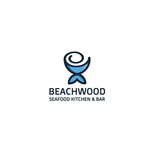 Sushi bar design with the title 'Logo for Beachwood'