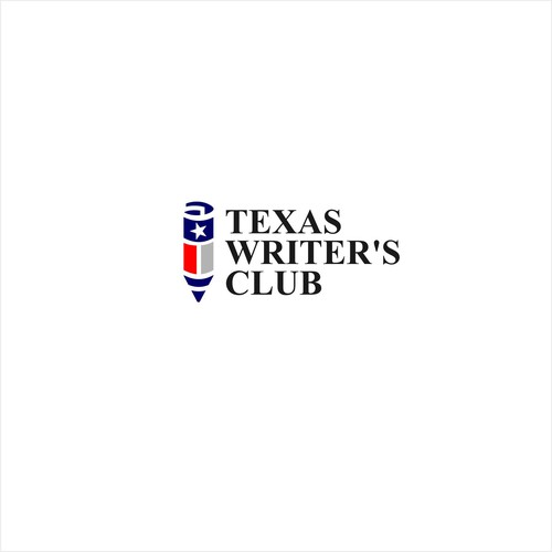 American flag logo with the title 'Logo for TEXAS WRITER CLUB'