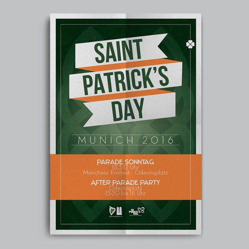 Munich design with the title 'Saint Patrick's Day Poster | Munich 2016'