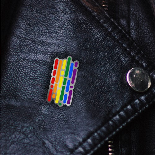 Pride design with the title 'Design for a pin'