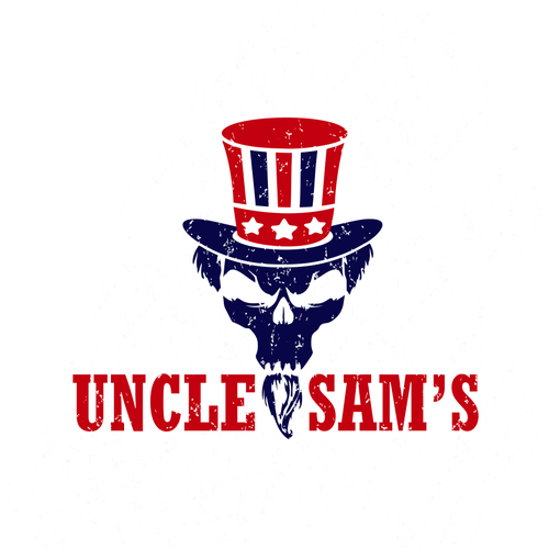 Cyber security logo with the title 'Uncle Sam's logo design'