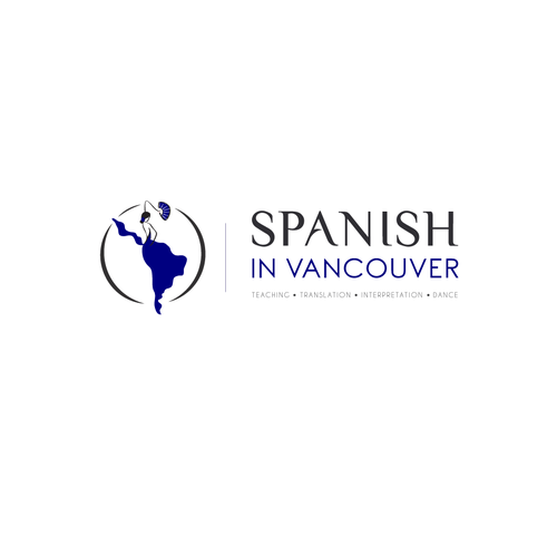 Map brand with the title 'Spanish in Vancouver logo design'