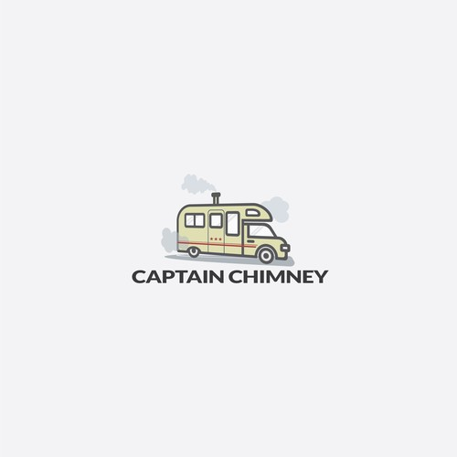 Chimney logo with the title 'Logo for CAPTAIN CHIMNEY'