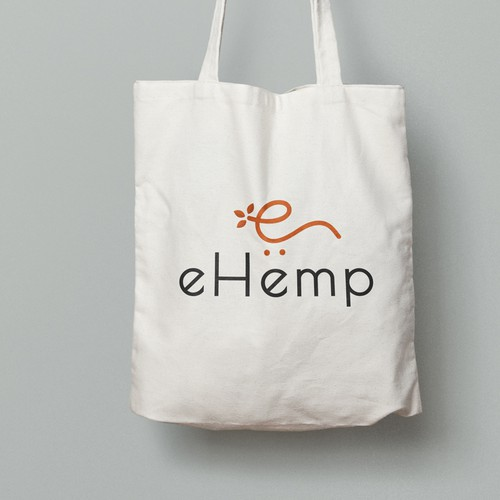 Eshop design with the title 'eHemp logo design concept'