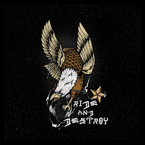 Eagle t-shirt with the title 'Ride and Destroy'