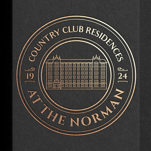 Linear design with the title 'Logo for Country Club Residences at the Norman'