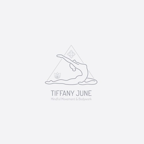 Progress logo with the title 'Elegant and light logo concept for Tiffany June Yoga Studio'
