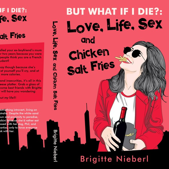 Cool book cover with the title 'Love, Life, Sex and Chicken Salt Fries - Contemporary fiction'