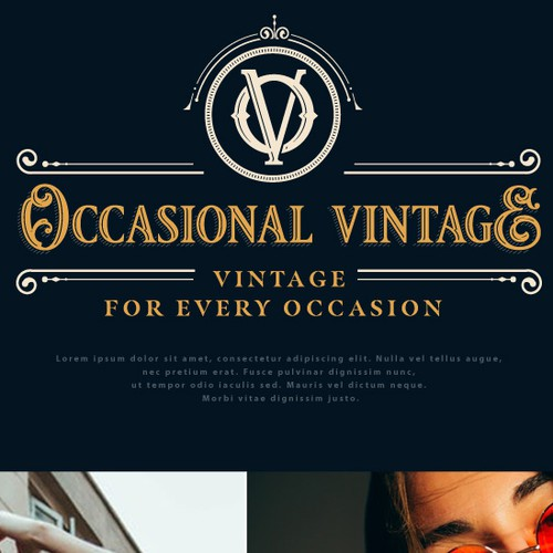 Outfit logo with the title 'Logo for Occasional Vintage'