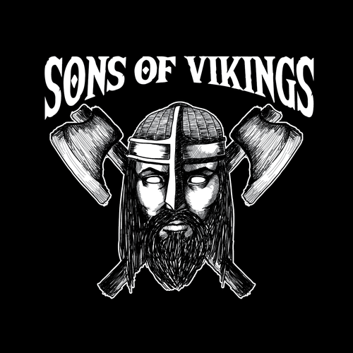 Rustic t-shirt with the title 'Viking t-shirt design'