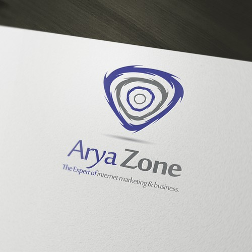 Zone logo with the title 'AryaZone Logo'