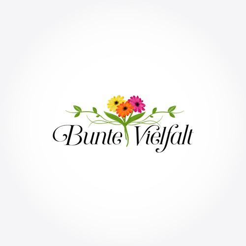 Flower shop logo with the title 'Logo für neues Geschäft für Floristik, Deko und Geschenkartikel'
